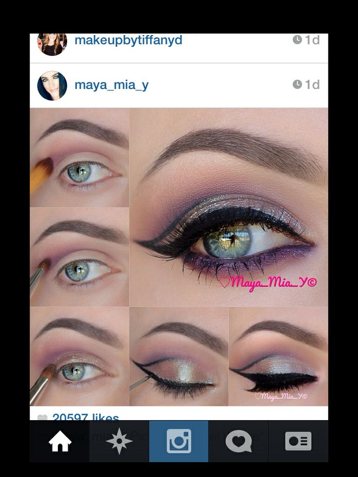 Step by step eye makeup application Makeup, hair and