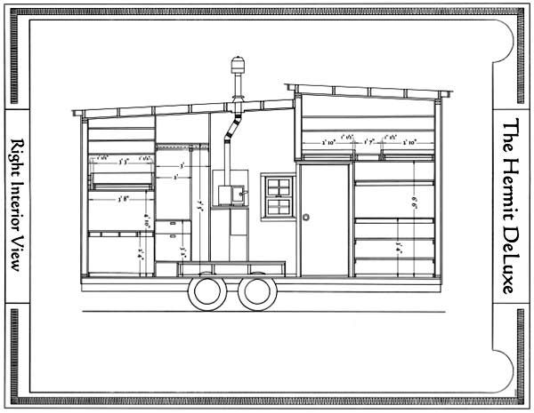tiny trailer home plan gypsy camp options pinterest
