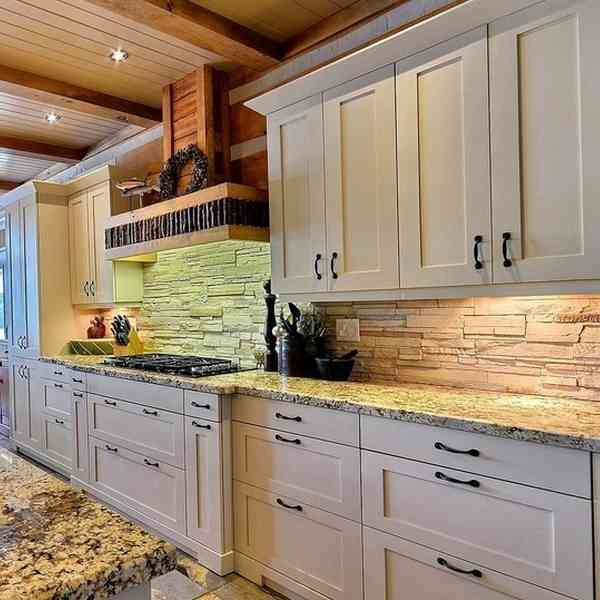 Textured stone backsplash ideas kitchen remodel ideas for Backsplash ideas for kitchen pinterest
