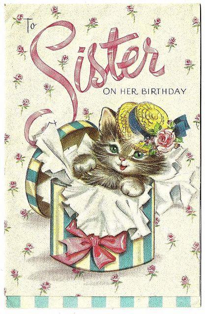 Vintage Birthday Wishes For Sister ~ Sister happy birthday pinterest