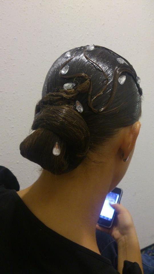 banana peel hairstyle : ballroom hairstyle Ballroom Hairstyles Pinterest