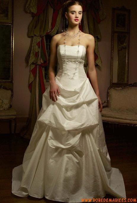 Robe de mariée pas cher bustier taffetas  Robes de mariée ...
