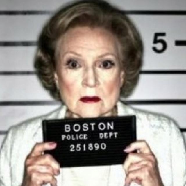 Betty White mugshot.