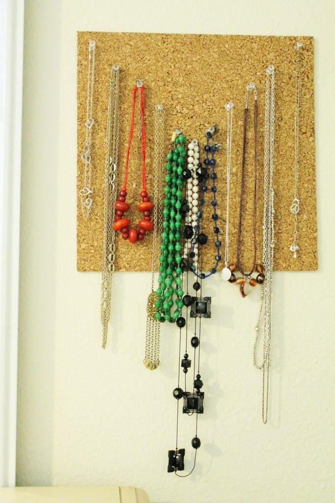 diy necklace hanger easy organization