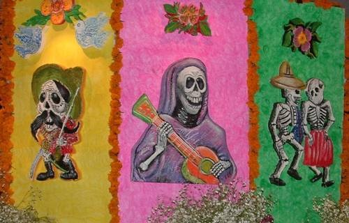 Day of the dead mural street wall graffiti art pinterest for Day of the dead mural
