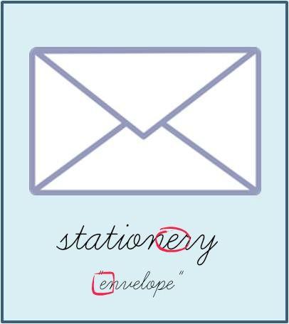 STATIONERY VS STATIONARY | stationery