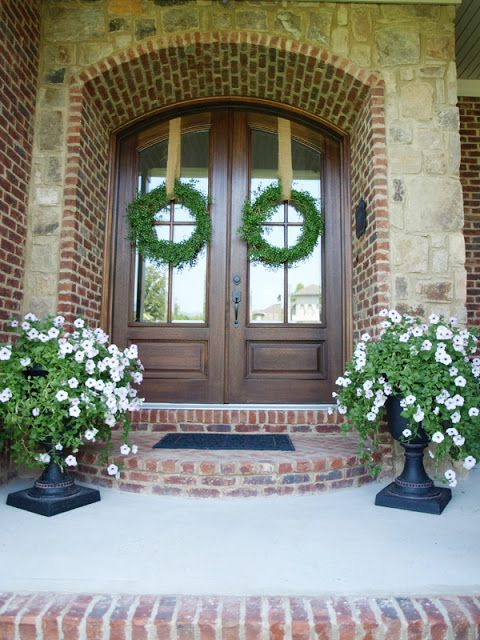 Front porch urns | Less-Than-Perfect Life of Bliss: Welcome Changes: The Front Porch