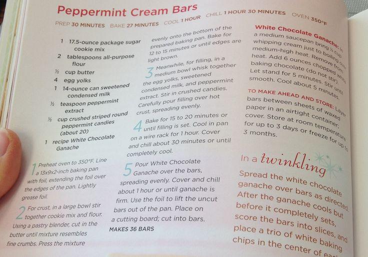 Peppermint Cream Bars | Zucker | Pinterest