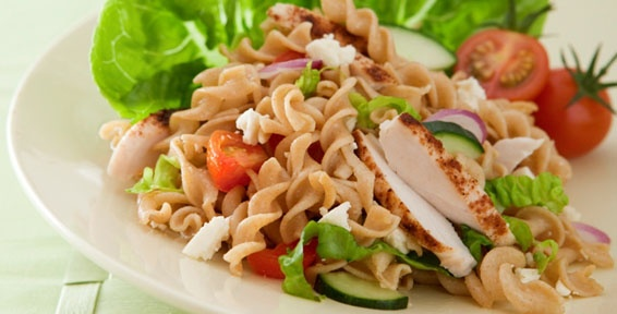 ... -Run Carbs and Protein for Recovery. Grilled Chicken and Pasta Salad