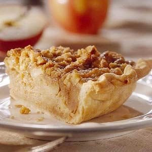 ... apple bread pudding (fresh apples and applesauce) are baked in a pie
