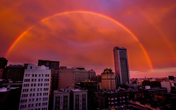 Another Double Rainbow shot from yesterday over San Francisco ...