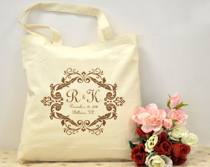 Personalised Wedding Gift Cheap : Custom bridal shower gift bags, Personalized bridesmaid bag, cheap we ...