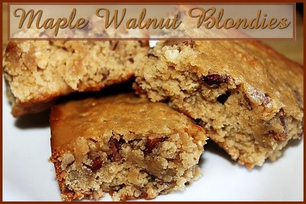 Maple Walnut Blondies http://www.momspantrykitchen.com/maple-walnut ...