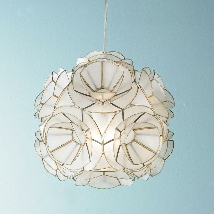 capiz shell flower pendant light unique ceiling lights pinterest. Black Bedroom Furniture Sets. Home Design Ideas