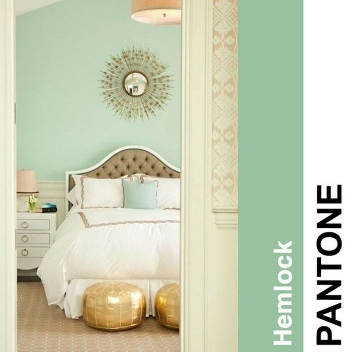 Let's usher in Spring this March by decorating with PANTONE's 2014 color: Hemlock. More interior tips at CityTile.net