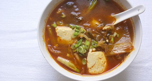 ... the kimchi cookbook kimchi soup with tofu and spinach recipes dishmaps