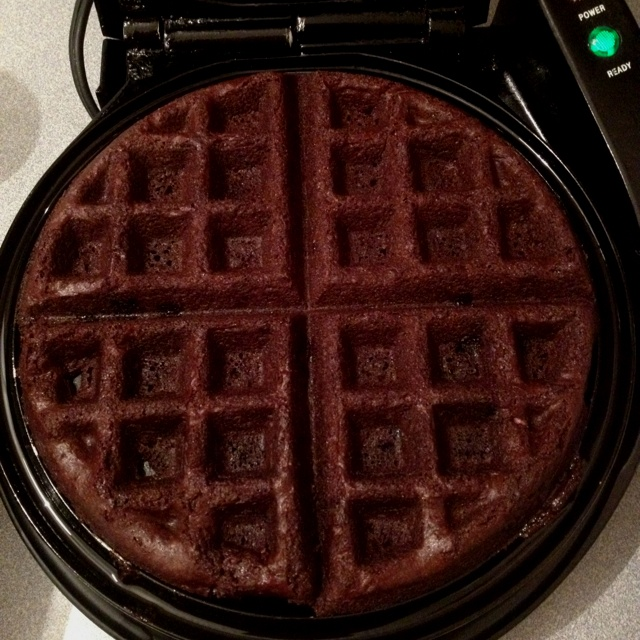 ... making me have to go buy a waffle maker just so I can make brownies
