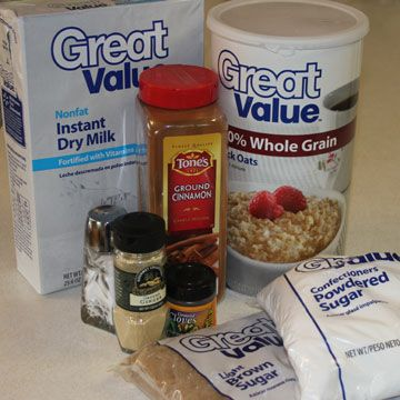Homemade instant oatmeal ~ Instead of expensive (and small) oatmeal ...