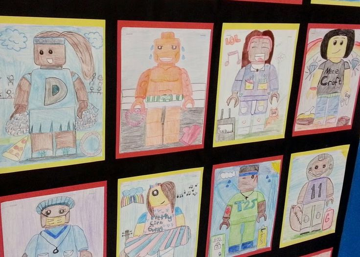 4th grade Lego styled Self-Portraits
