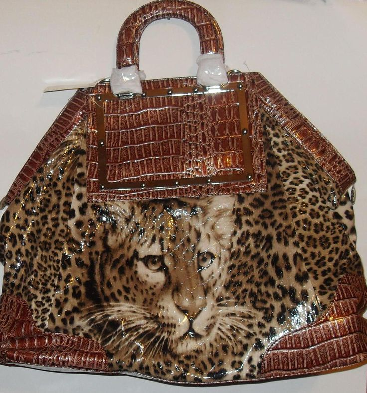 Leopard animal print handbag purse large offered by queencityfashion