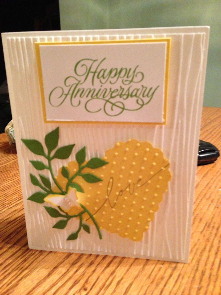 anniversary cards handmade cards on pinterest handmade cards handmade ...