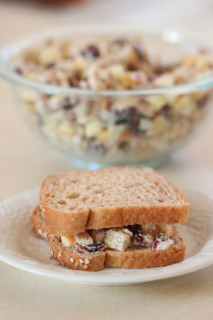 Cranberry Apple Pecan Chicken Salad Sandwiches | Tortillas and Honey