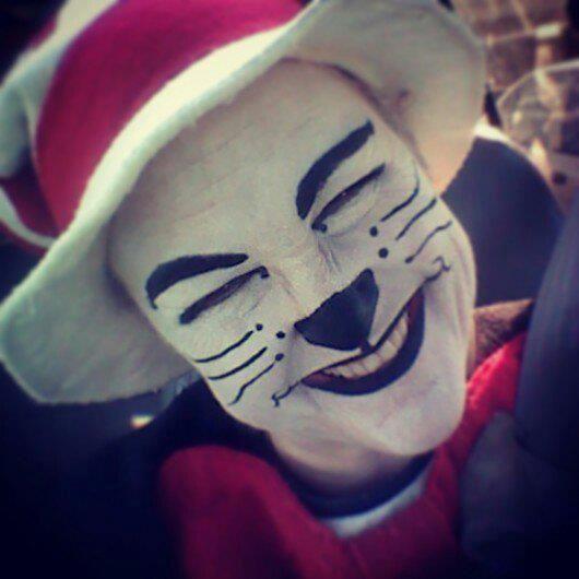 Cat in the Hat - costume makeup idea