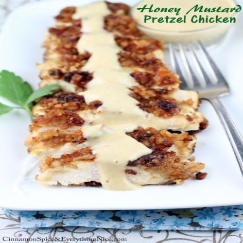 Honey Mustard Pretzel Chicken | Recipes | Pinterest