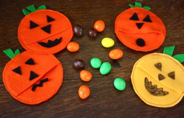 buzzmills: pumpkin candy pockets | Halloween | Pinterest