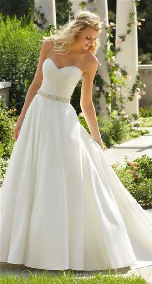 Wedding Dress With Sparkly Belt For The Future Pinterest