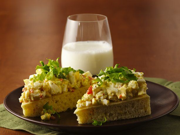Open-Face Egg Salad Sandwiches | Recipe