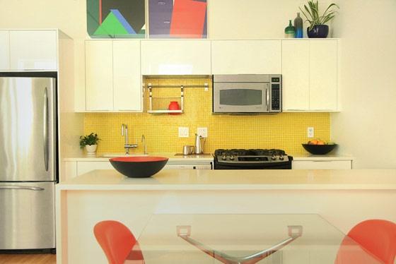 yellow tile backsplash home to do pinterest