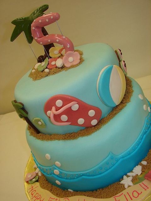 Pool party cake Pool party ideas Pinterest