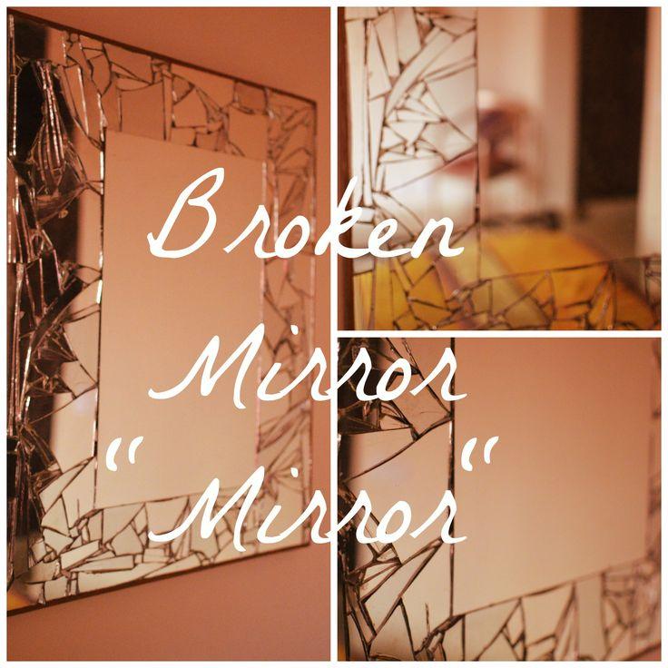 broken mirror wall hanging diy diy home decor pinterest
