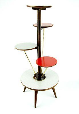 Vintage 1950s PLANT STAND Mid Century Danish Modern Bauhaus Art Deco ...