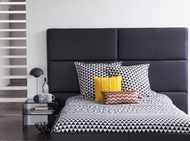 Tete de lit cuir noir HOTEL by FLY 199€  Kids  Pinterest
