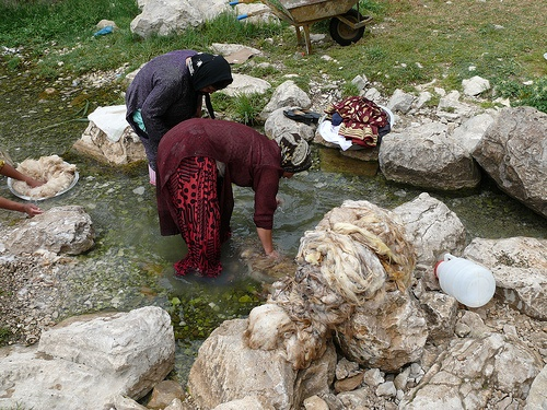Wool washing by dynamosquito, via Flickr