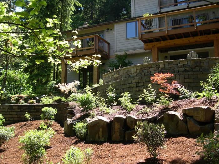 Tiered Backyard Decks : Decks above tiered yard Love this!  NH ideas  Pinterest