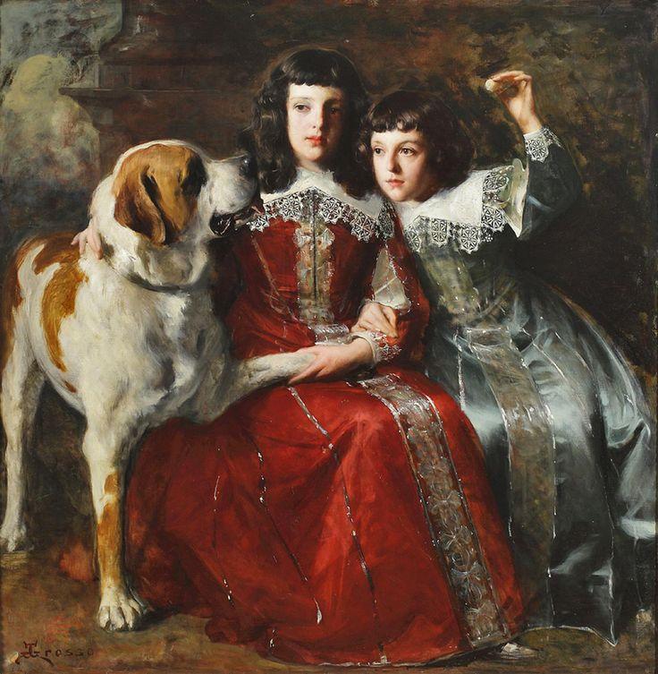 Giacomo Grosso (Italian 1860–1938) Maria E Carmen Marsaglia, 1893-94. Oil on canvas. Private collection.