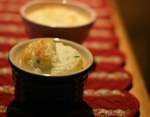 Goat Cheese Soufflé. Goat cheese is always delicious. This is a nice ...