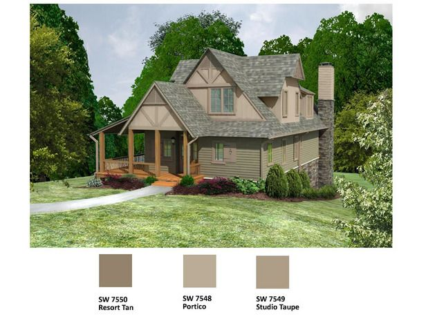 Log cabin paint schemes bing images for Cabin exterior paint colors