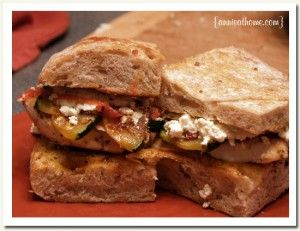 grilled chicken and zucchini sandwiches with homemade ricotta