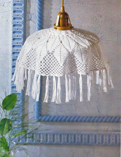 Free Pattern Crochet Lampshade : Crochet lampshade - Free Diagram Pattern crocheted ...