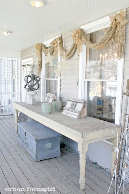 White Farmhouse Dining Table Front Doors Porches Pinterest