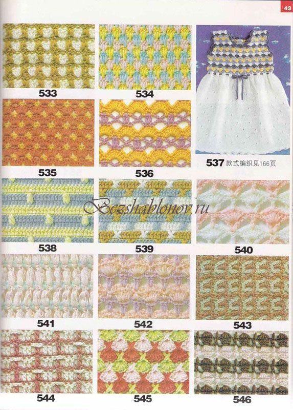 Crochet Stitches Multicolor : Crochet stitch chart multicolor haken Pinterest