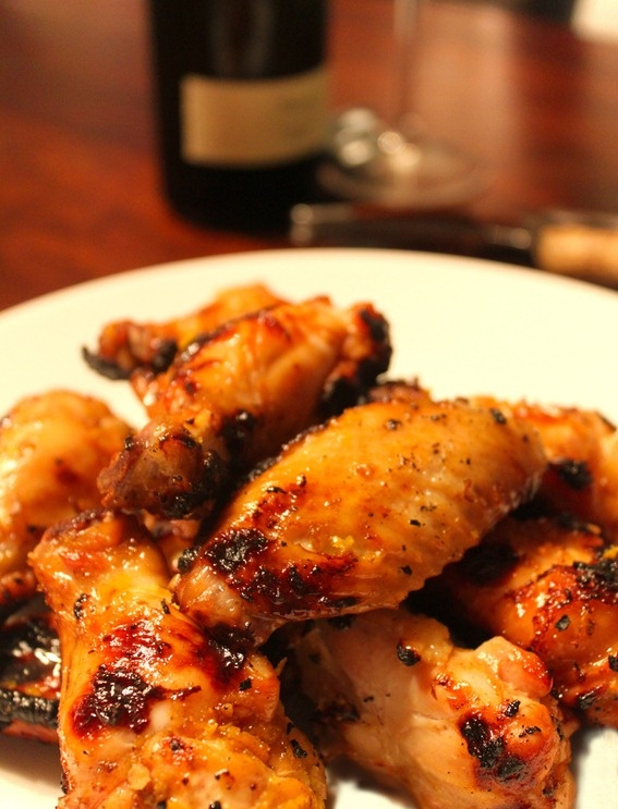 Recipe for Orange-Glazed Chicken Wings. Paired with Batasiolo Gavi ...