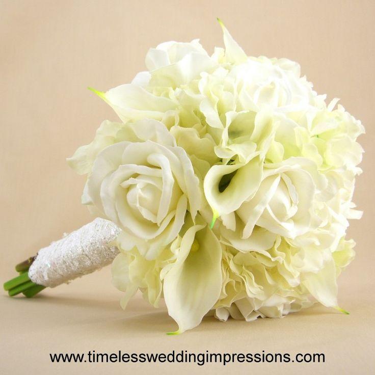 Bridal Bouquets Calla Lilies And Hydrangeas : Roses calla lilies hydrangeas wedding