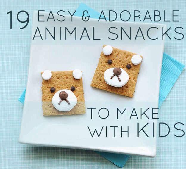 easy and adorable animal snacks for kids kid ideas pinterest