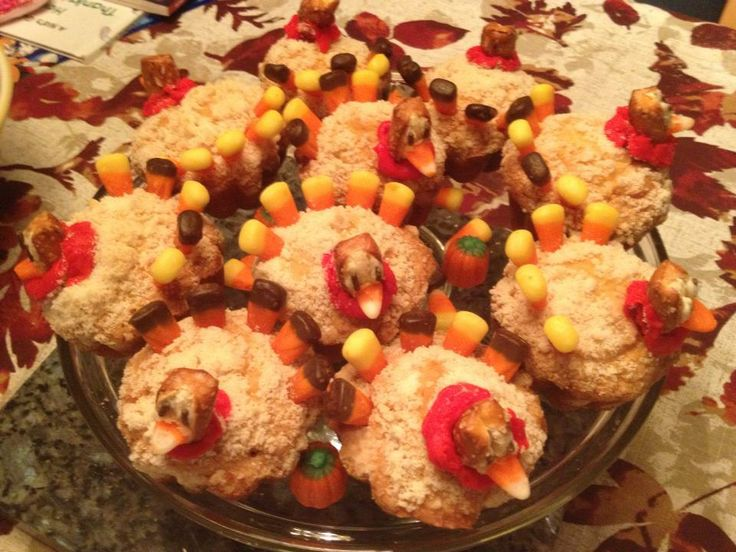 flock of muffins! Crumbly Irish muffins with a touch of candy corn ...
