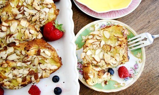 Easy Peasy Almond French Toast. Smells like we just made our home a ...